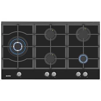 Simfer Yeni 90 Cm Siyah Ankastre Set (7392 Fýrýn + 3915 Ocak + 8911 Davlumbaz)