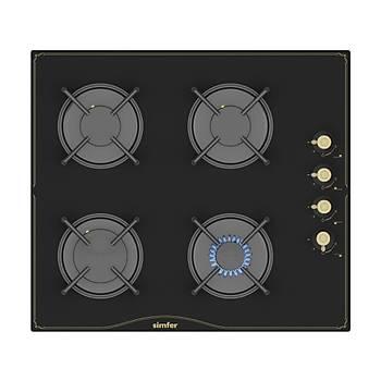 Simfer Rustik Siyah Cam Ankastre Set (7349 Fýrýn + 3325 Ocak + 9612 Davlumbaz)