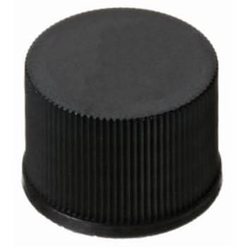 10MM PP SCREW CAP, BLACK, CLOSED TOP, 10-425 THREAD