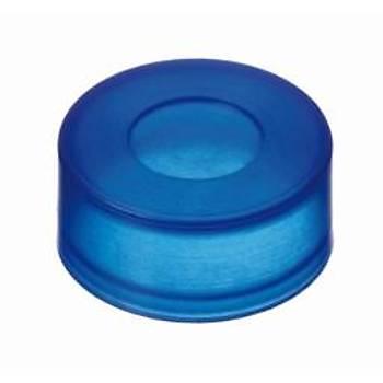 11MM PE PUSH ON CAP, BLUE, WÝTH THÝNNED PENETRATÝON AREA 100/pk