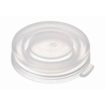 22MM PE SNAP CAP, 23,5 X 5,5MM, TRANSPARENT, CLOSED TOP 100/pk
