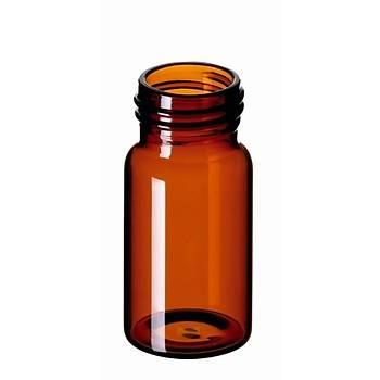 20ML EPA SCREW NECK VÝAL, 57 X 27.5MM, AMBER GLASS, 1. HYDROLYTÝC CLASS