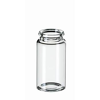 15ML SNAP CAP VÝAL ND22, 48 X 26MM, CLEAR GLASS, 3RD HYDROLYTÝC CLASS 100/pk