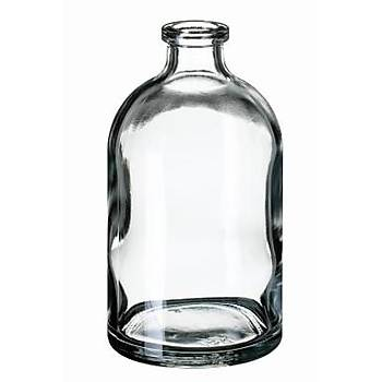 100ML CRÝMP NECK VÝAL, 94.5 X 51.6MM, CLEAR GLASS, 3RD HYDROLYTÝC CLASS