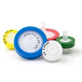 25mm HPLC Syringe Filter, Cellulose Acetate pore size 0.45µm  100 Ad/Pk