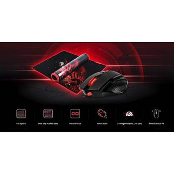 BLOODY V7M71 V7M 3200cpi Gamer Mouse + B-071 Oyuncu Mouse Pad