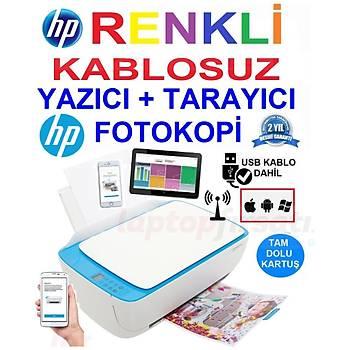 HP 3639 Wi-Fi Kablosuz Renkli Yazýcý Tarayýcý Fotokopi F5S43B Airprint