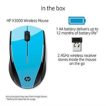 HP WIRELESS KABLOSUZ OPTÝK MOUSE X3000 MAVI K5D27AA