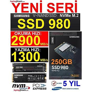 SAMSUNG SSD 980 250GB 2900MB/s-1300MB/s NVMe 1.4 PCIE GEN 3.0 X4 M.2 SSD MZ-V8V250BW