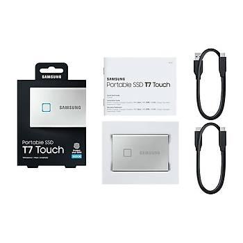 Samsung T7 Touch 500GB USB 3.2 Gen 2 MU-PC500S/WW Taşınabilir SSD Gümüş