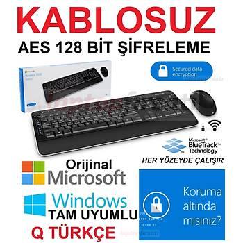Microsoft Wireless Desktop 3050 AES Klavye Mouse Set PP3-00017