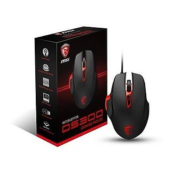MSI INTERCEPTOR DS300 OYUNCU MOUSE 8200DPI