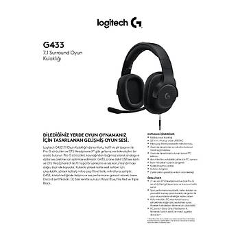 LOGITECH G433 7.1 SURROUND GAMING BLUE 981-000687