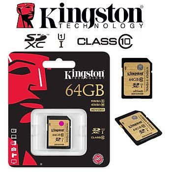 Kingston 64GB SDHC C10 UHS-I SDA10/64GB Hafýza Kartý