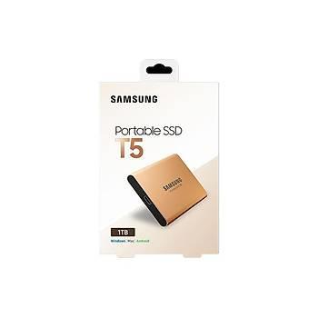 SAMSUNG T5 1TB  SSD TAÞINABÝLÝR HDD GOLD MU-PA1T0G/WW