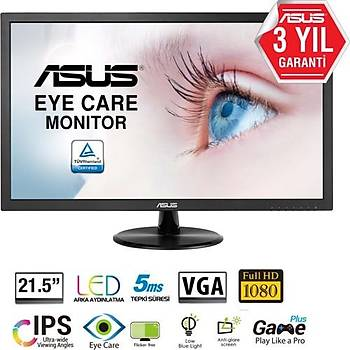 ASUS VP228DE 21.5 5ms D-Sub LED Monitör