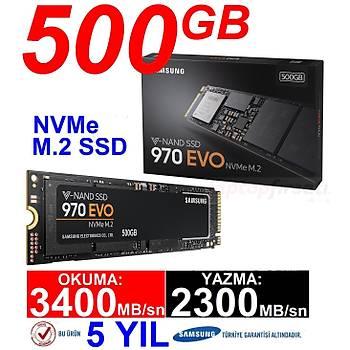 Samsung 500GB 970 Evo NVME M.2 SSD 3400/2300MB/S MZ-V7E500BW