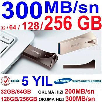 300MB/sn YÜKSEK HIZLI 5YIL GARANTİLİ SAMSUNG USB 3.1 32 TO 256GB