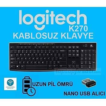 Logitech K270 Wireless Nano Alýcý Kablosuz Klavye 920-003761