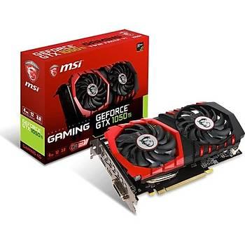 MSI GeForce GTX1050TI Gaming 4G 4GB 128 bit GDDR5 DX(12) PCI-E 3.0 Ekran Kartý