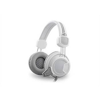 Rampage Sn-R8 Beyaz/Gri Oyuncu Mikrofonlu Kulaklýk