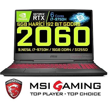 MSI GL65 9SE-014XTR i7 9750H 16GB 512SSD RTX2060 Freedos 15.6