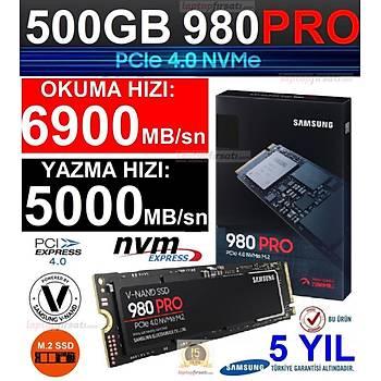 Samsung 980 Pro 500GB 6900MB-5000MB/S Nvme M.2 SSD MZ-V8P500BW