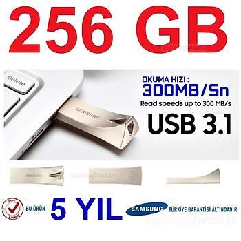 SAMSUNG 300MB/Sn Yüksek Hızlı 256GB USB3.1 BAR+GRİ MUF-256BE3/APC