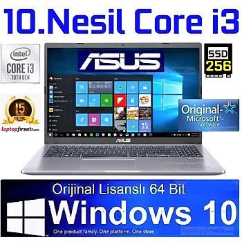 Asus X509JA-BR089T 10.Nesil i3-1005G1 4GB 256SSD Windows10 15.6