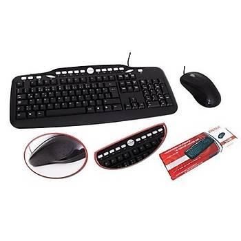 Everest UN-797 USB Multimedya Klavye Mouse Set