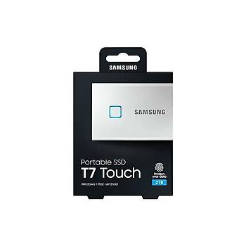 Samsung T7 Touch 2TB USB 3.2 Gen 2 MU-PC2T0S/WW Taþýnabilir SSD Gümüþ