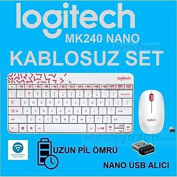 LOGITECH MK240 KABLOSUZ SET Q TR BEYAZ 920-008214