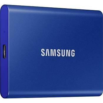 Samsung T7 500GB 1050MB-1000MB/s USB 3.2 Gen2 Taþýnabilir SSD Lacivert MU-PC500H/WW