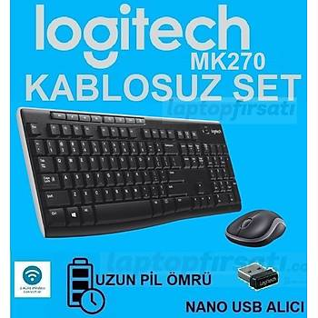 Logitech Mk270 Kablosuz Klavye Mouse Q TR 920-004525