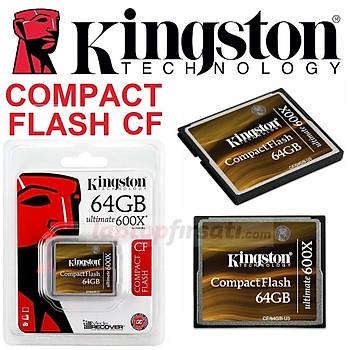 ????Kingston 64GB CompactFlash 600X Ultimate HafýzaKartý CF/64GB-U3