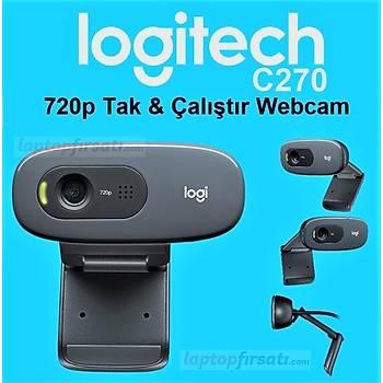 Logitech C270 Mikrofonlu HD 720p Webcam 960-001063 V-U0018