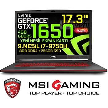 MSI GL73 9SC-021XTR i7 9750H 8GB 256GB SSD GTX1650 Freedos 17.3