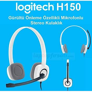 ????Logitech H150 Mikrofonlu Kulaklýk/Beyaz 981-000350