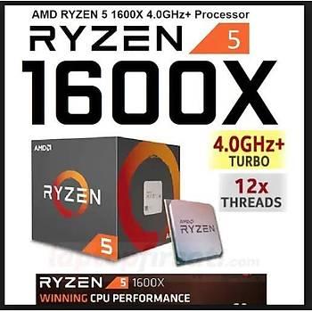 ????AMD Ryzen 5 1600X 3.60/4.00 GHz 19 MB Cache Soket AM4 Ýþlemci