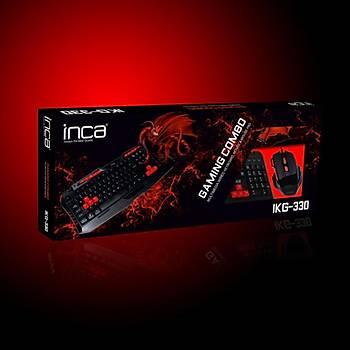 Inca IKG-330 Türkçe Gaming Combo Set(Oyuncu Klavye+Mouse+Mousepad