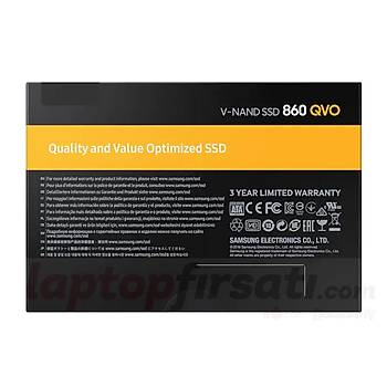 Samsung 860 QVO 1TB 550-520MB/s 2.5 SATA3 SSD MZ-76Q1T0BW 3YIL GARANTÝLÝ_AYNI GÜN KARGO