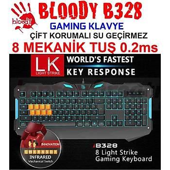 BLOODY B328 8 LK LIGHT STRIKE MEKANÝK TUÞLU OYUNCU KLAVYE