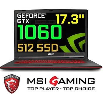 ????MSI GL73 8RE-807XTR i7-8750H 16GB 512GB SSD 6GB_GTX1060 17.3