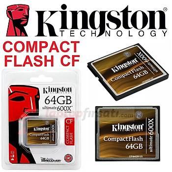 ????Kingston 64GB CompactFlash 600X Ultimate HafýzaKartý CF/64GB-U3