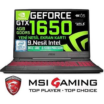 MSI GL65 9SC-041XTR i5-9300H 8GB 256GB SSD GTX1650 DOS 15.6'' FHD