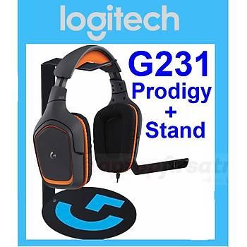 Logitech G231 Prodigy Oyuncu Kulaklýðý 981-000627+KULAKLIK STANDI