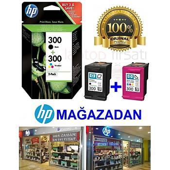 HP 300 ÝKÝLÝ PAKET 300 SIYAH + 300 RENKLI CC640E+CC643E=CN637E
