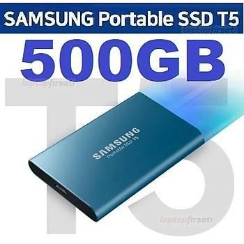 SAMSUNG T5 500GB TAÞINABÝLÝR HARÝCÝ SSD MU-PA500B/WW MAVÝ 3Y GARANTÝLÝ