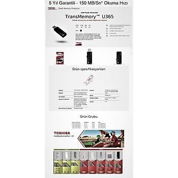 32GB 150MB/sn Yüksek Okuma Hýzlý TOSHIBA USB 3.0 THN-U365K0320E4