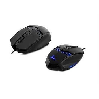 Rampage KM-R10 3 Farklý Aydýnlatma Siyah Oyuncu Klavye Mouse Set